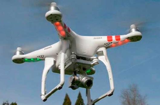 Квадрокоптер Phantom 2 DJI Vision Plus в полете