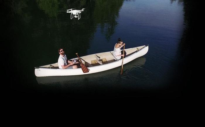 Phantom 3 Standard полет над озером