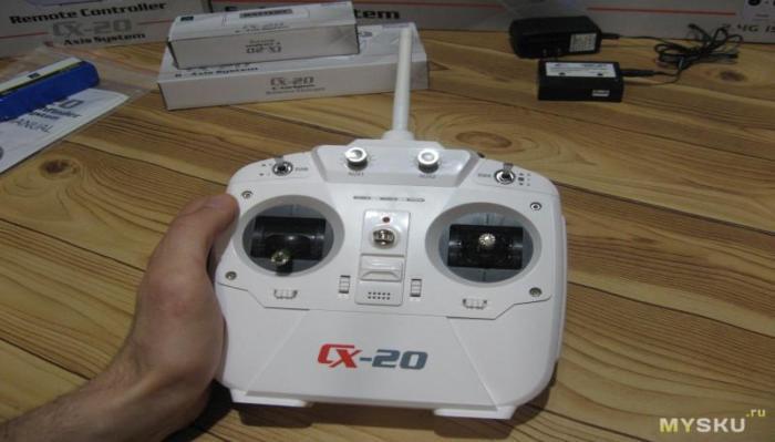 Квадрокоптера CX 20 пульт