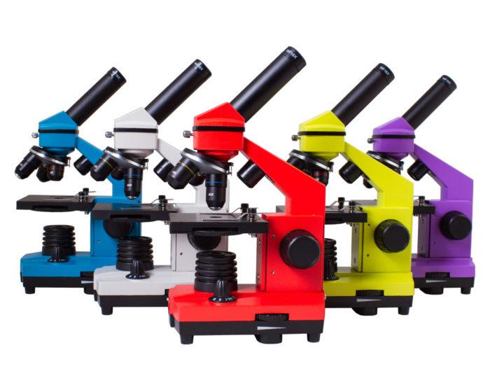 Микроскоп Levenhuk 2l в разных цветах